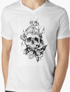 sad skull Mens V-Neck T-Shirt