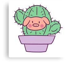 Pig Face Cactus Canvas Print