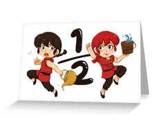 Ranma in Hot or Cold Water Greeting Card