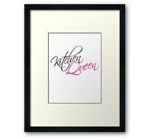 Kitchen Queen Text Logo Design Framed Print