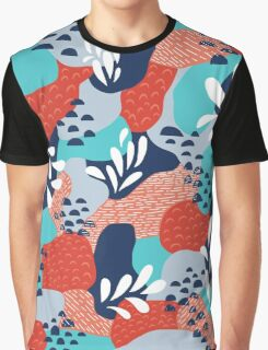Abstract Mermaid Scales Graphic T-Shirt