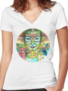 She Thought She Was Small and Trapped, but She Was Not. Women's Fitted V-Neck T-Shirt