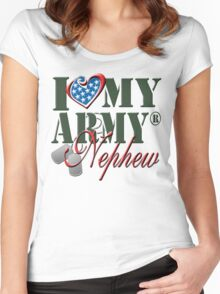 I Love My Army Nephew Women's Fitted Scoop T-Shirt