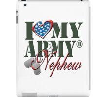 I Love My Army Nephew iPad Case/Skin