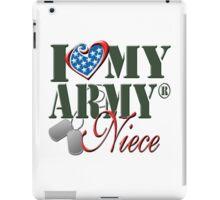 I Love My Army Niece iPad Case/Skin
