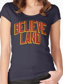 BELIEVE LAND (Cleveland Cavaliers 2016) Women's Fitted Scoop T-Shirt