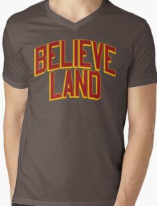 BELIEVE LAND (Cleveland Cavaliers 2016) Mens V-Neck T-Shirt