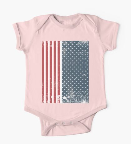 vertical american flag  One Piece - Short Sleeve