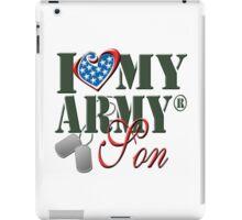 I Love My Army Son iPad Case/Skin