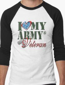 I Love My Army Veteran Men's Baseball ¾ T-Shirt