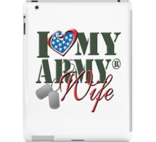 I Love My Army Wife iPad Case/Skin