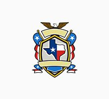 Texas State Map Flag Coat of Arms Retro Classic T-Shirt