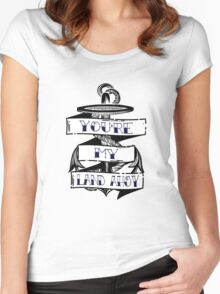 Land Ahoy Women's Fitted Scoop T-Shirt