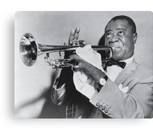 Louis Armstrong with his trumpet Canvas Print