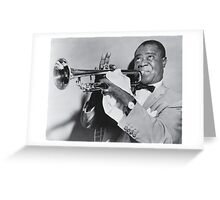 Louis Armstrong with his trumpet Greeting Card