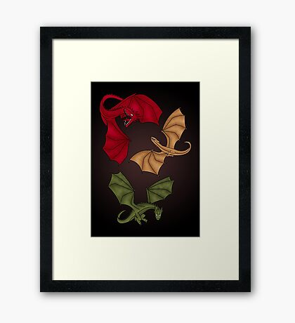 a dance with dragons Framed Print