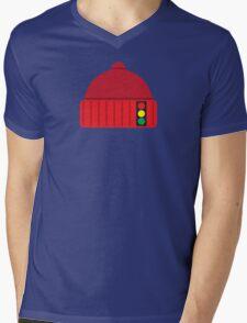 NED'S CAP Mens V-Neck T-Shirt