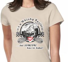 Lady Skull Baker: Whisky Business Womens Fitted T-Shirt