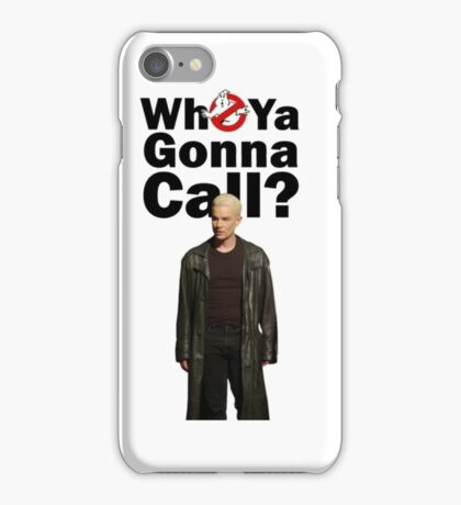 Buffy Spike Ghost busters iPhone Case/Skin
