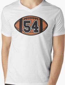 Football 54 Mens V-Neck T-Shirt
