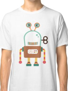 Cute Retro Wind-up Robot Toy Classic T-Shirt