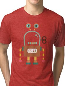 Cute Retro Wind-up Robot Toy Tri-blend T-Shirt