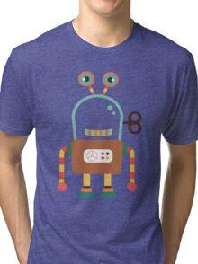 Cute Retro Wind-up Robot Toy Tri-blend T-Shirt