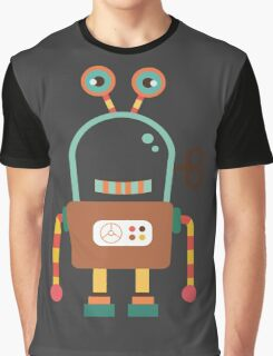 Cute Retro Wind-up Robot Toy Graphic T-Shirt