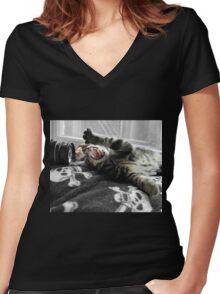 Kill the Camera Kill the Camera Women's Fitted V-Neck T-Shirt