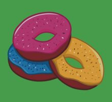 Colorful Donuts Pattern Kids Tee