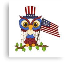 Patriotic Owl Canvas Print