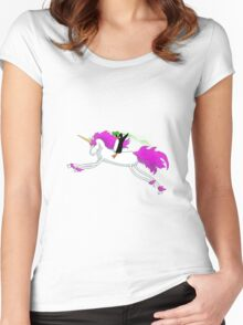 Unicorn Panguin Women's Fitted Scoop T-Shirt