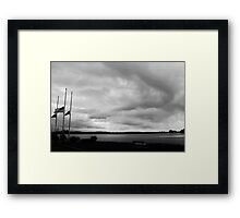 Half-Staff Framed Print