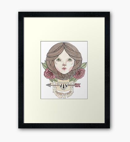 Arrows and Roses Framed Print