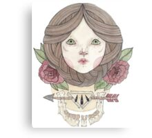 Arrows and Roses Canvas Print