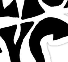 the black keys symbol Sticker