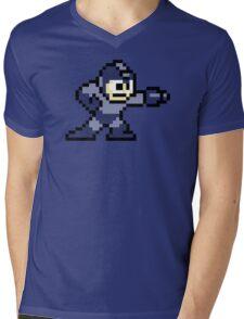 8-bit megaman Mens V-Neck T-Shirt