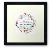 Legally blonde quote Framed Print