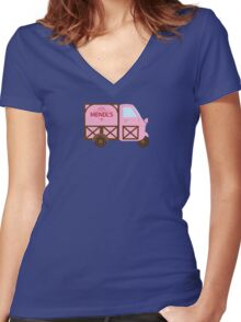 MENDLS DELIVERY Women's Fitted V-Neck T-Shirt