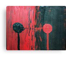 Round head series # 3 in Red & Black  Canvas Print