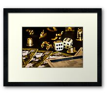 Monopoly Pieces Framed Print