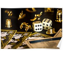 Monopoly Pieces Poster