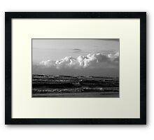 Waves & Clouds Framed Print