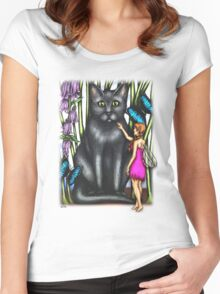Misty and the Fairy Women's Fitted Scoop T-Shirt