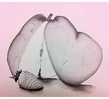 A Strawberry and a Pear Photographic Print