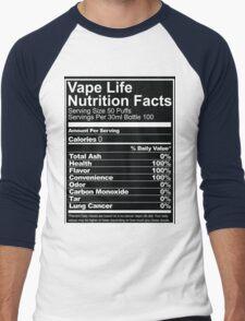 Vape Life Nutrition Facts Men's Baseball ¾ T-Shirt