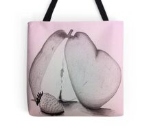 A Strawberry and a Pear Tote Bag