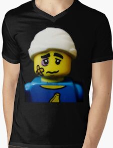 Lego Clumsy Guy minifigure Mens V-Neck T-Shirt