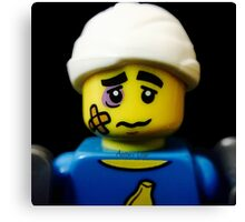 Lego Clumsy Guy minifigure Canvas Print