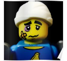 Lego Clumsy Guy minifigure Poster